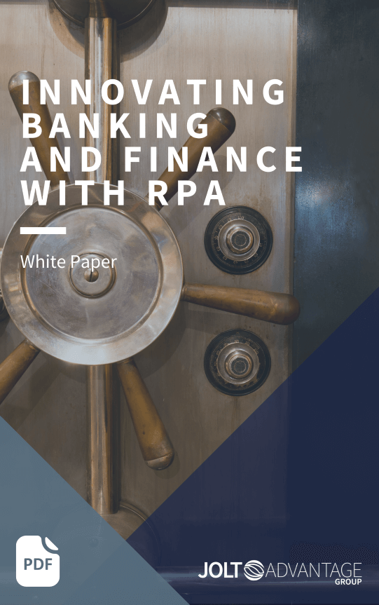 Innovating Banking and Finance with RPA - Cover